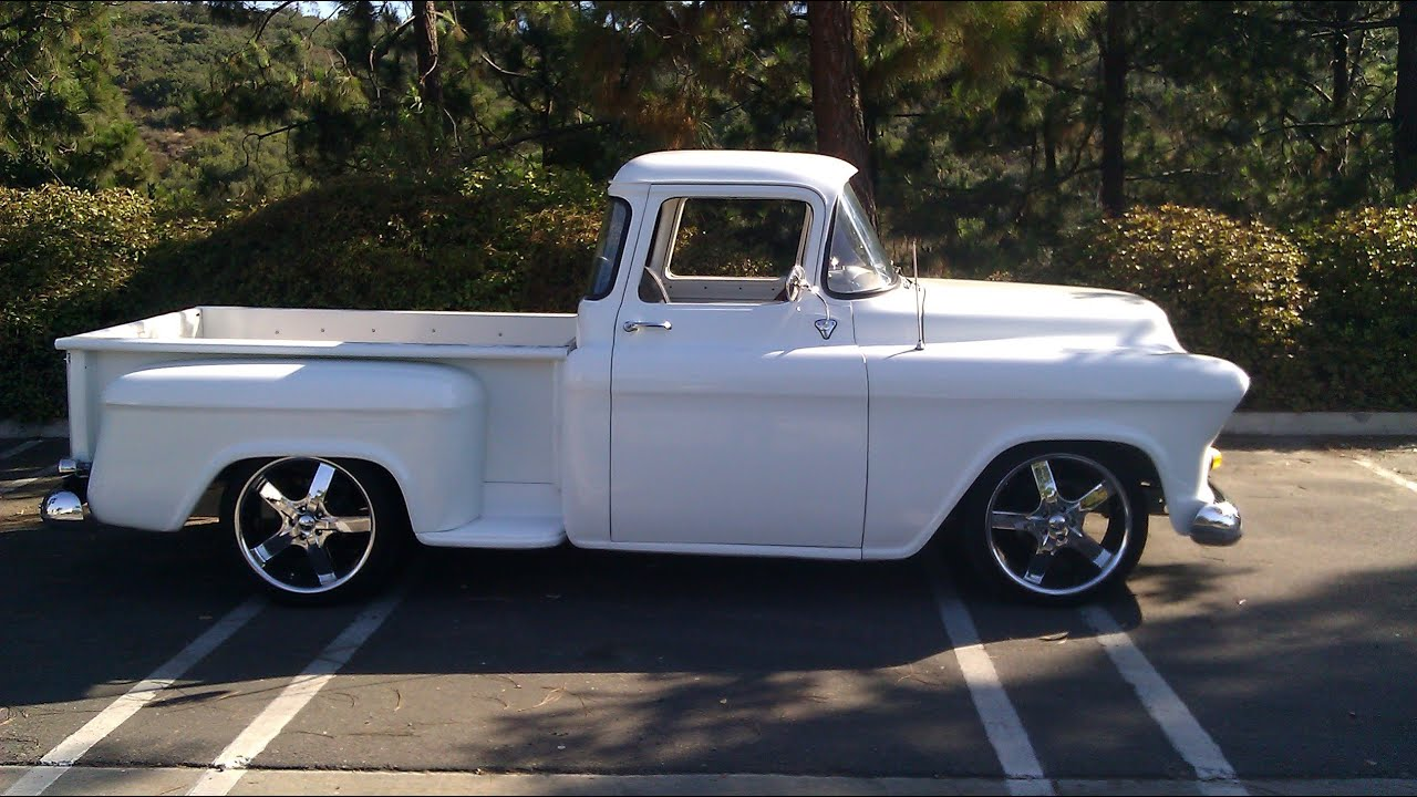 1955 Chevy Truck (WALK AROUND) - YouTube
