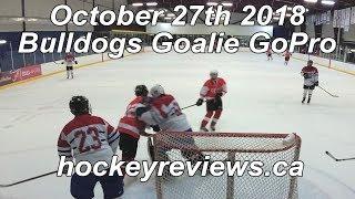 October 27th 2018 Bulldogs Hockey, I Get Angry... Goalie GoPro Yi 4K+