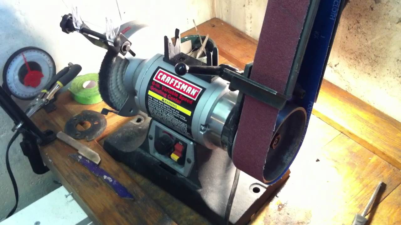 commercial block bench sears watch my craftsman grinder youtube