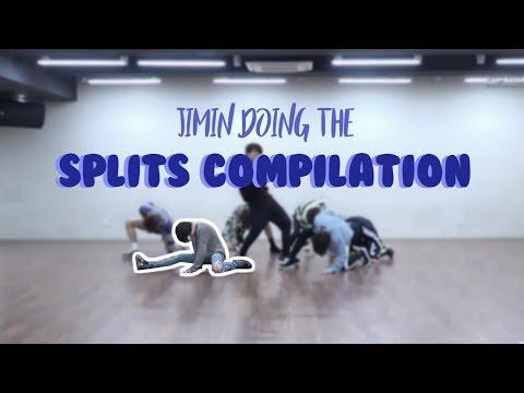 jimin doing the splits in fake love compilation