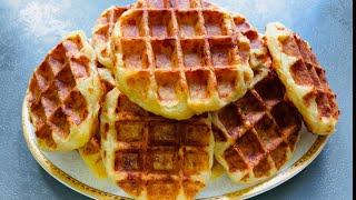 Супер Вкусные Ленивые Слоеные Хачапури в Вафельнице! Сырные Вафли! Сырное Печенье!