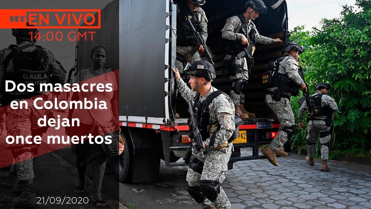 Dos masacres en Colombia dejan once muertos - NOTICIERO 21/09/2020