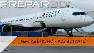 P3D V4.4 Full Flight - Delta 757-200 - New York to Atlanta (KJFK-KATL)