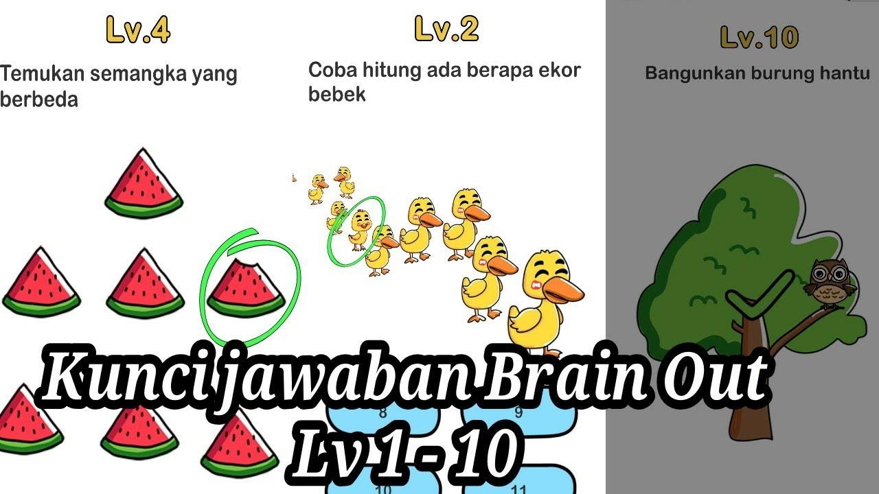 Kunci Jawaban Brain Out Level 1 10 Youtube