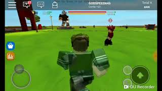 Playing (anime Tycoon) on Roblox