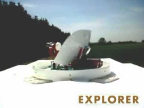 Explorer - Full Motion Satellite TV Antenna by GLOMEX