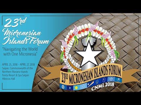 23rd Micronesian Islands Forum - Day 1