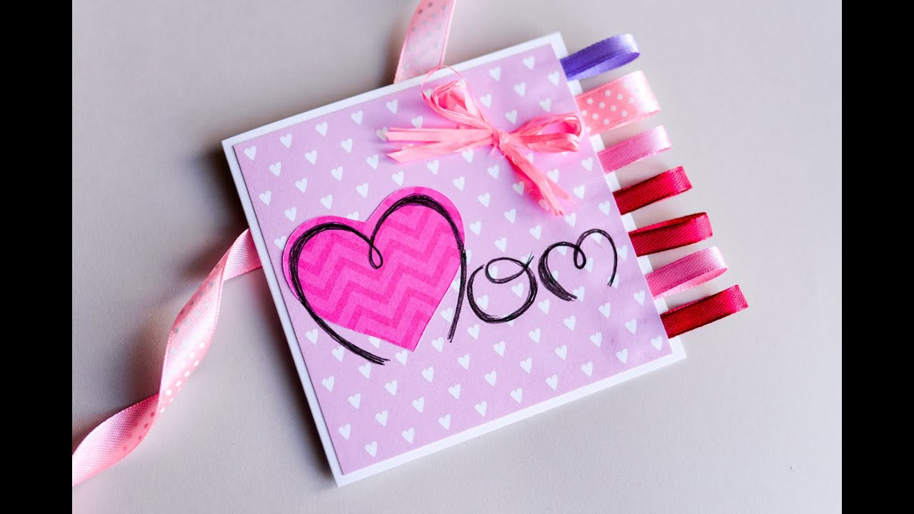 How to Make Easy Greeting Card Mothers Day Step by Step – Birthday Card for My Mother