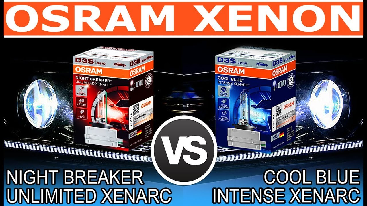 Osram Xenon Night Breaker Unlimited Xenarc Vs Cool Blue Intense Xenarc Der Vergleich Youtube