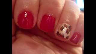 Easy DIY Red Leopard Cheetah Nail Art Thumbnail