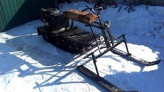 Самодельный лыжный модуль на буксировщик Cronus. Конструкция. интересный финал :)