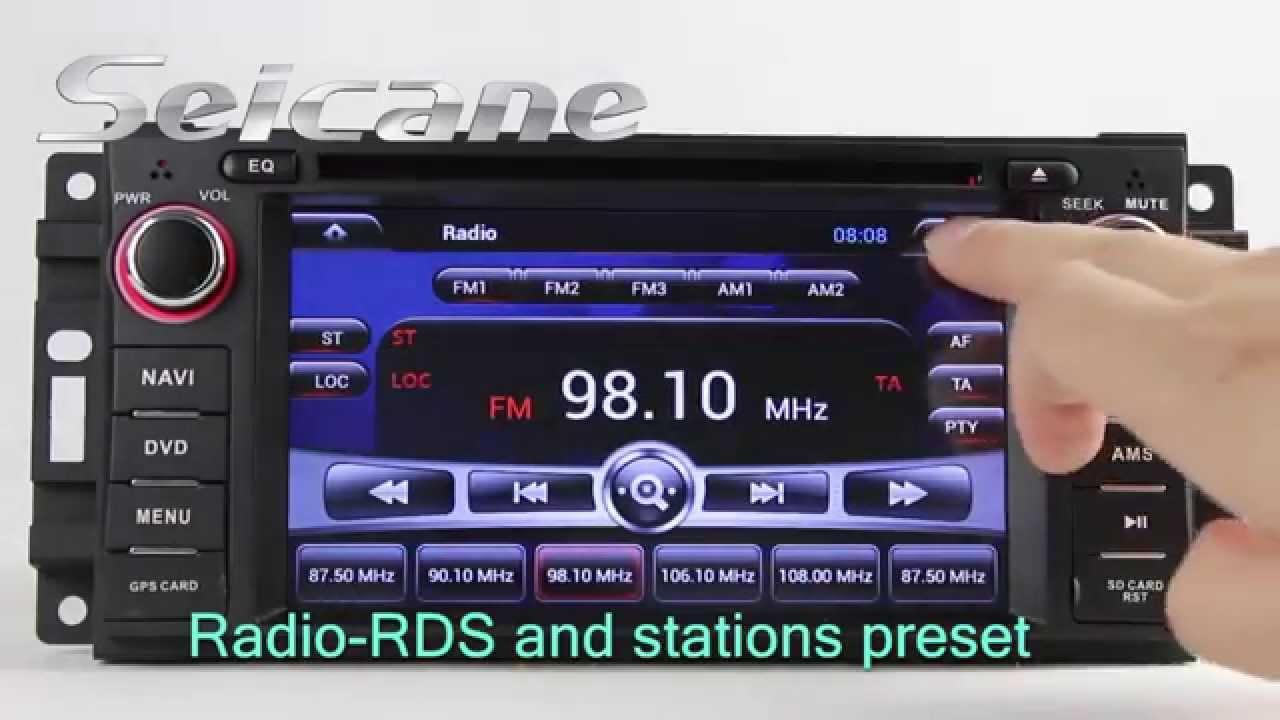 2007 2008 2009 2010 Jeep Wrangler Unlimited DVD GPS Navigation System TV  USB Music Ipod MP3