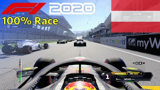 F1 2020 - 100% Race at Red Bull Ring in Albon's Red Bull