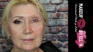 Возрастной макияж для впалых глаз и танцующая бровь модели / Выпуск 2