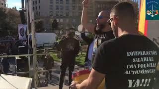 MANIFESTACION POLICIA NACIONAL Y GUARDIA CIVIL POR LA EQUIPARACION EN BARCELONA  JUSAPOL