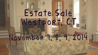 Estate Sale - Nov 7, 8, 9 - Westport, Ct