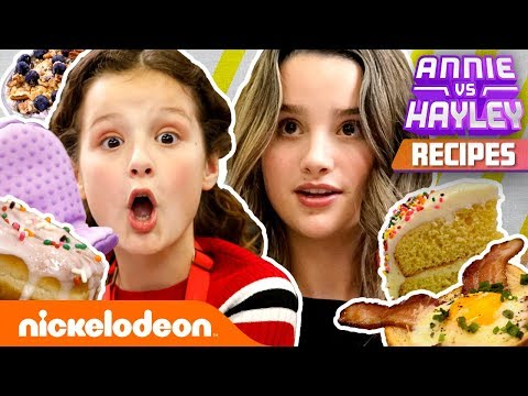 How to BAKE Annie & Hayley LeBlanc Recipes! 🍰 Annie vs. Hayley | Nickelodeon