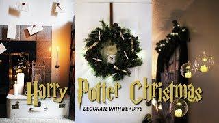a very harry potter christmas | turning my halloween decor into christmas decor