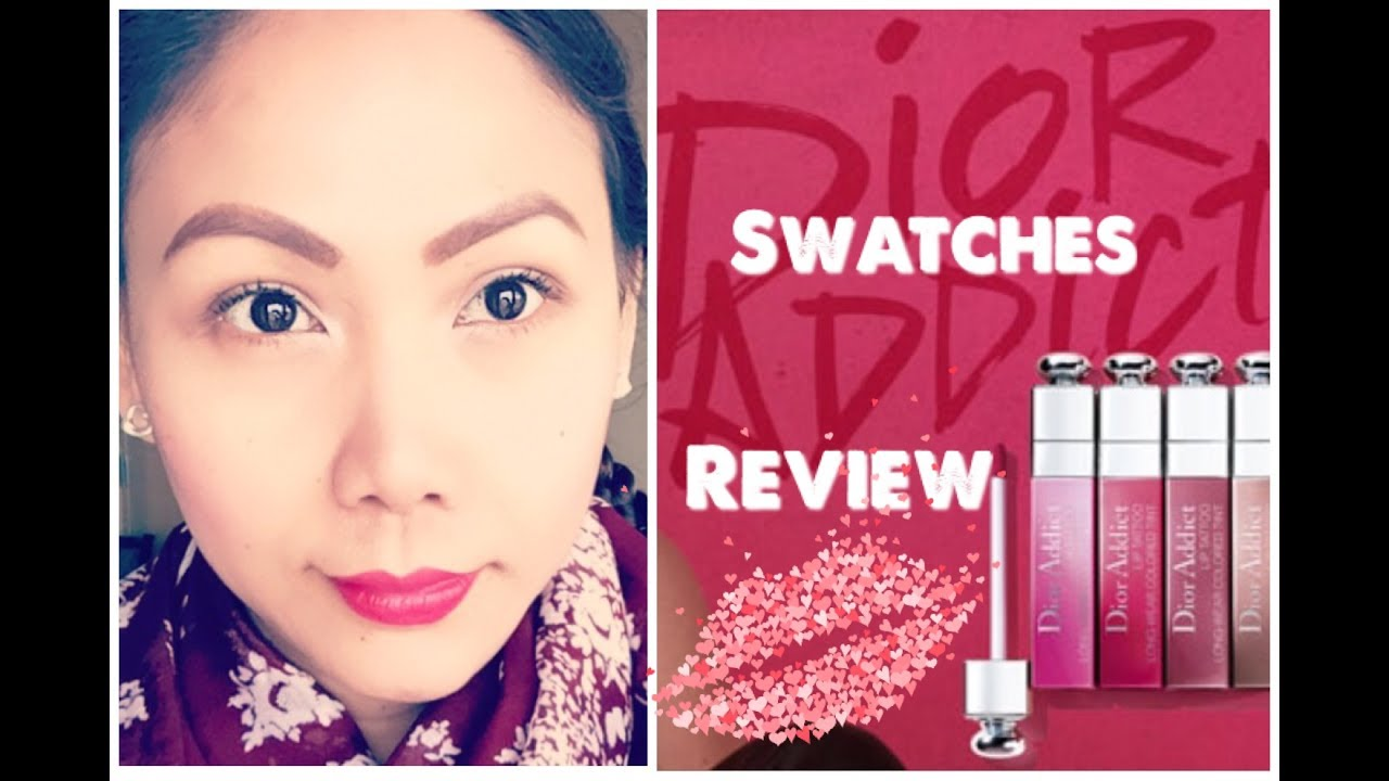 DIOR LIP TATTOO REVIEW + SWATCHES (NEW SUMMER LIP TINT) - YouTube