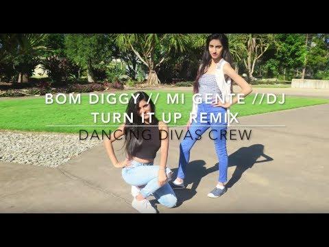Bom Diggy // DJ turn it up // Mi Gente Remix dance video