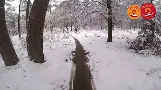 Mountainbike routes Zeist in de sneeuw