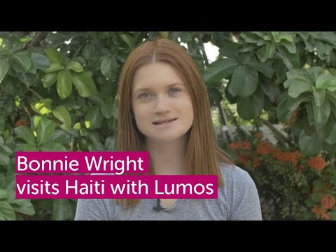 Bonnie Wright visits Haiti WeAreLumos