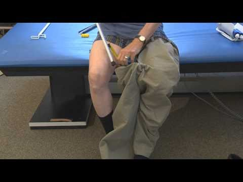 Putting On Pants With A Reacher Aid