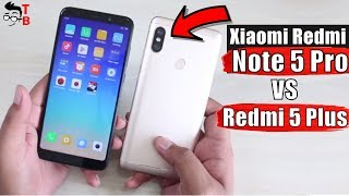 Xiaomi Redmi Note 5 Pro vs Redmi 5 Plus: What