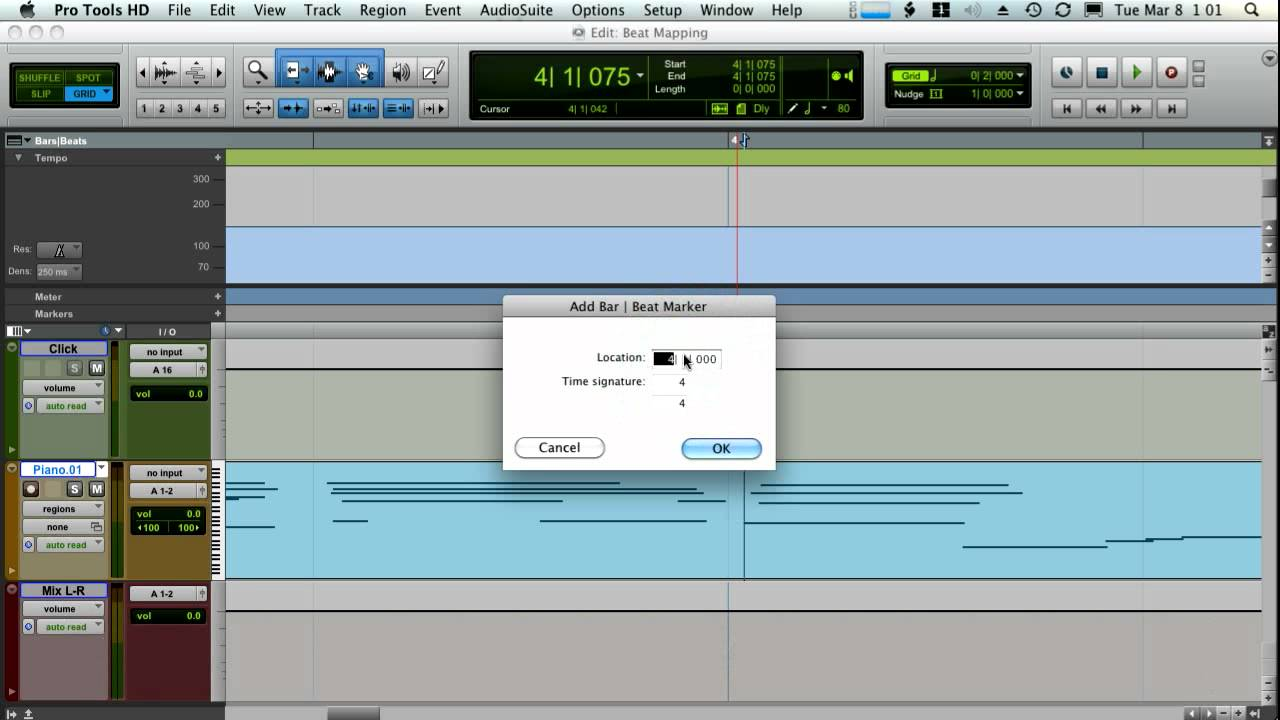 Pro Tools Beat Mapping- How to line up the Metronome with your tracks