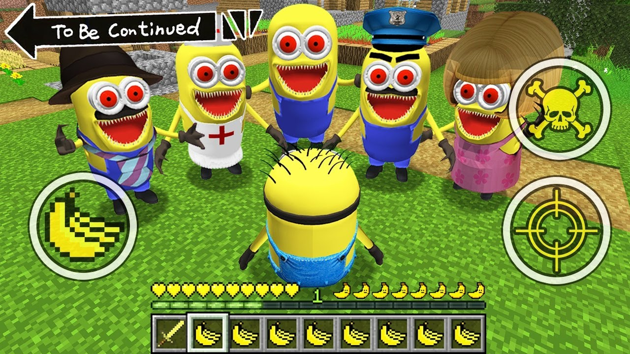 HOW TO SURVIVE AS MINION vs ALL SCARY MINION.EXE ! Scary Minion vs Minions Minecraft GAMEPLAY Movie