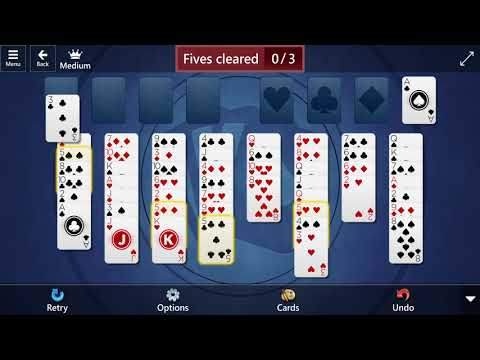 Microsoft Solitaire Collection: FreeCell - Medium - June 13, 2021