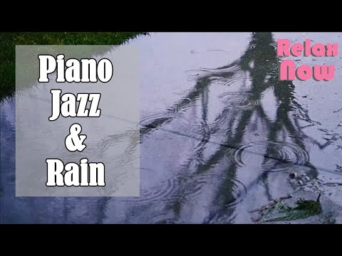 🔶(4 HOURS) Light Piano Jazz, Gentle Rain: Relaxing Sleep Music, Work Music, Study Background Music