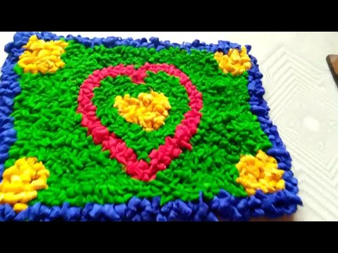 How to Make Door Mat and Recycling From old Saree Waste Clothes at Home