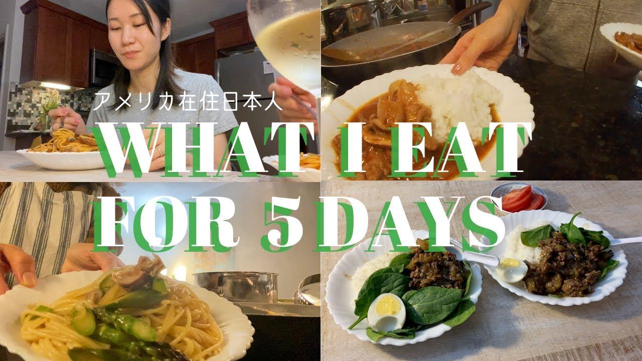 【5日間の夕食】アメリカ暮らしの日本人が食べるもの 普段の食生活 自炊