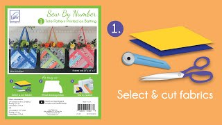 Sew By Number Tote Step 1 - Cut Fabric