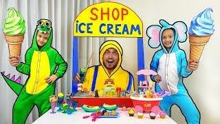 Mi Mi Kids Fingir jugar con HELADO Conducir a Través Tienda de Juguetes