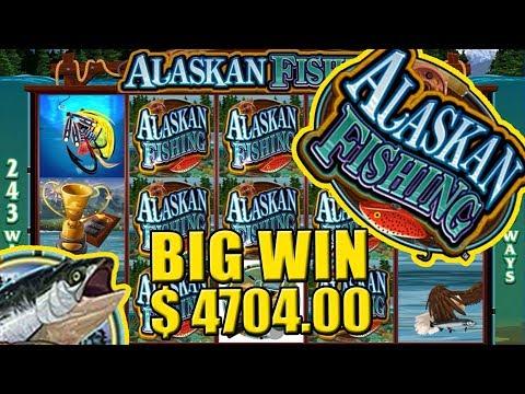 Alaskan Fishing Slot BIG WIN!! $4704.00