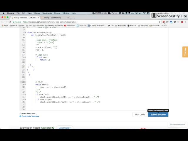 LeetCode 257. Binary Tree Paths [????]