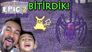 ÇİZDİKLERİMİZ CANLANDI BİTİRDİK! | Draw a Stickman: EPIC 2 DLC Drawn Below FİNAL