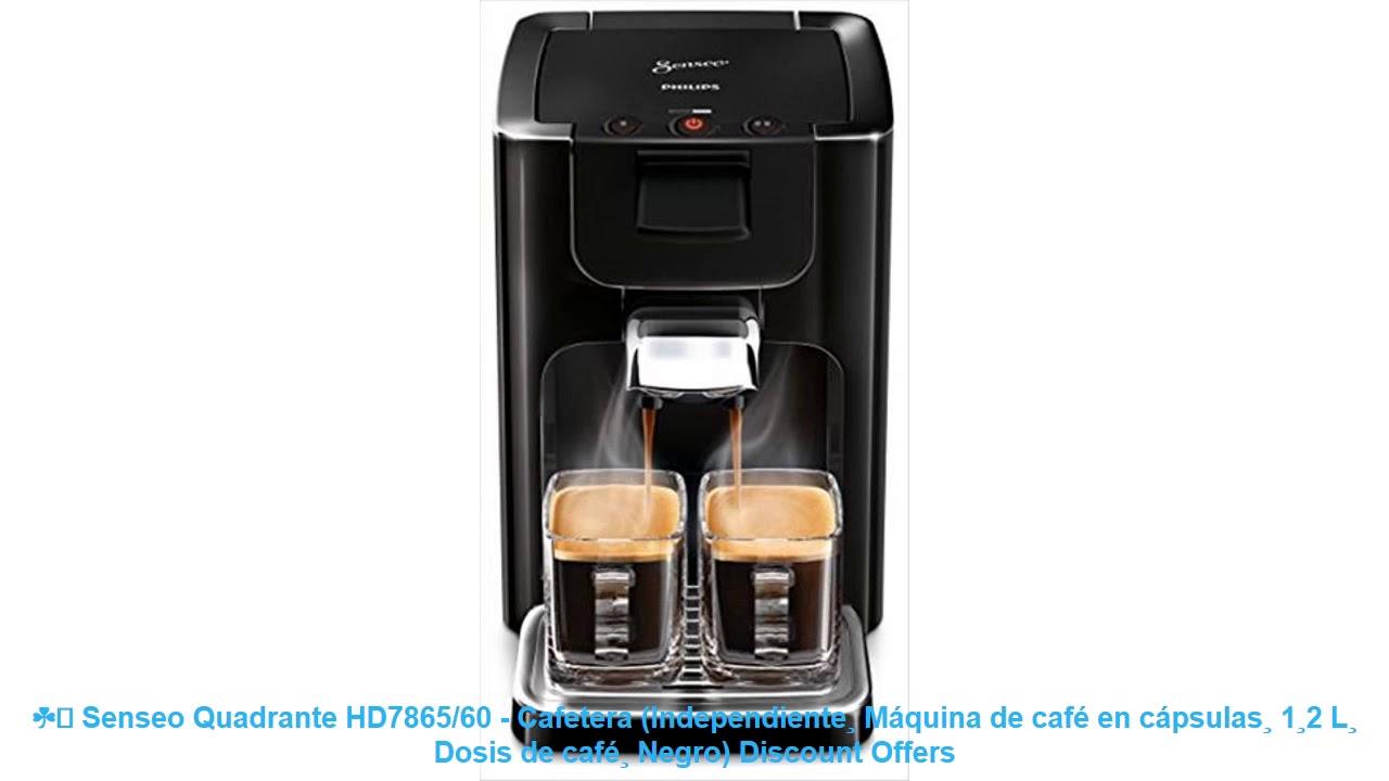 Senseo Quadrante HD7865//60 Cafetera Independiente, M/áquina de caf/é en c/ápsulas, 1,2 L, Dosis de caf/é, Negro