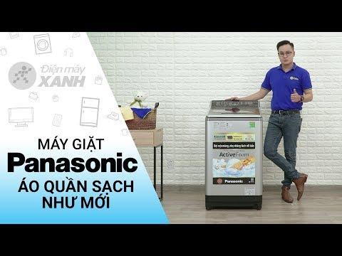 Máy giặt Panasonic 10 KG: quần áo sạch như mới (NA-F100V5LRV)   Điện máy XANH