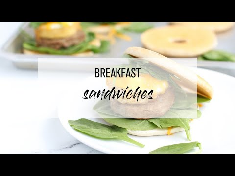 Build Your Own Breakfast Sandwiches