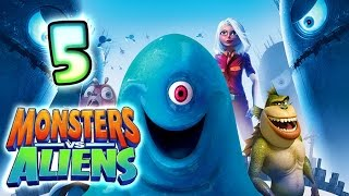 Monsters VS Aliens Walkthrough Part 5 (PS3, X360, Wii, PS2) ~  Missing Link Level 5