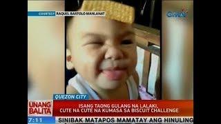 UB: 1 taong gulang na lalaki, cute na cute na kumasa sa Biscuit Challenge
