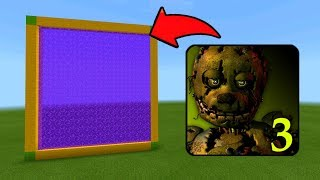 Minecraft Pe How To Make a Portal To The Five Nights at Freddys 3 Dimension - Mcpe Portal To FNAF 3
