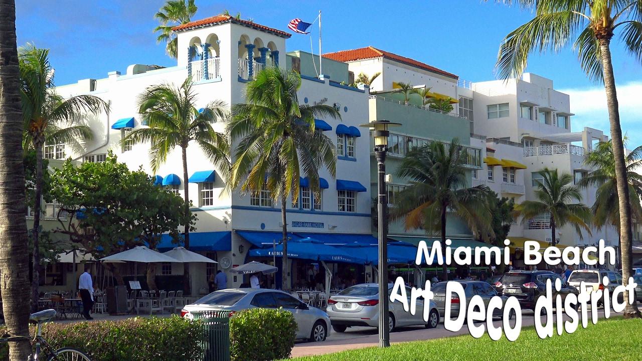 miami beach art deco historic district 4k youtube