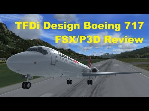 TFDi Design Boeing 717 Review Part 1 (Interior and Exterior) and a fascinating plane's background