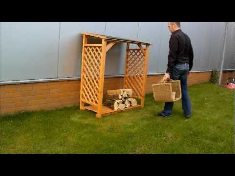 radius design wooden tree kaminholzregal doovi. Black Bedroom Furniture Sets. Home Design Ideas