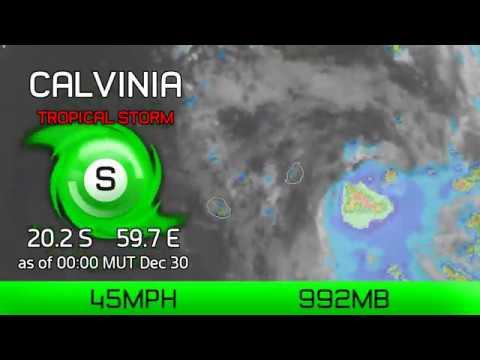 Cyclone Calvinia update - 12am MUT Dec 30, 2019