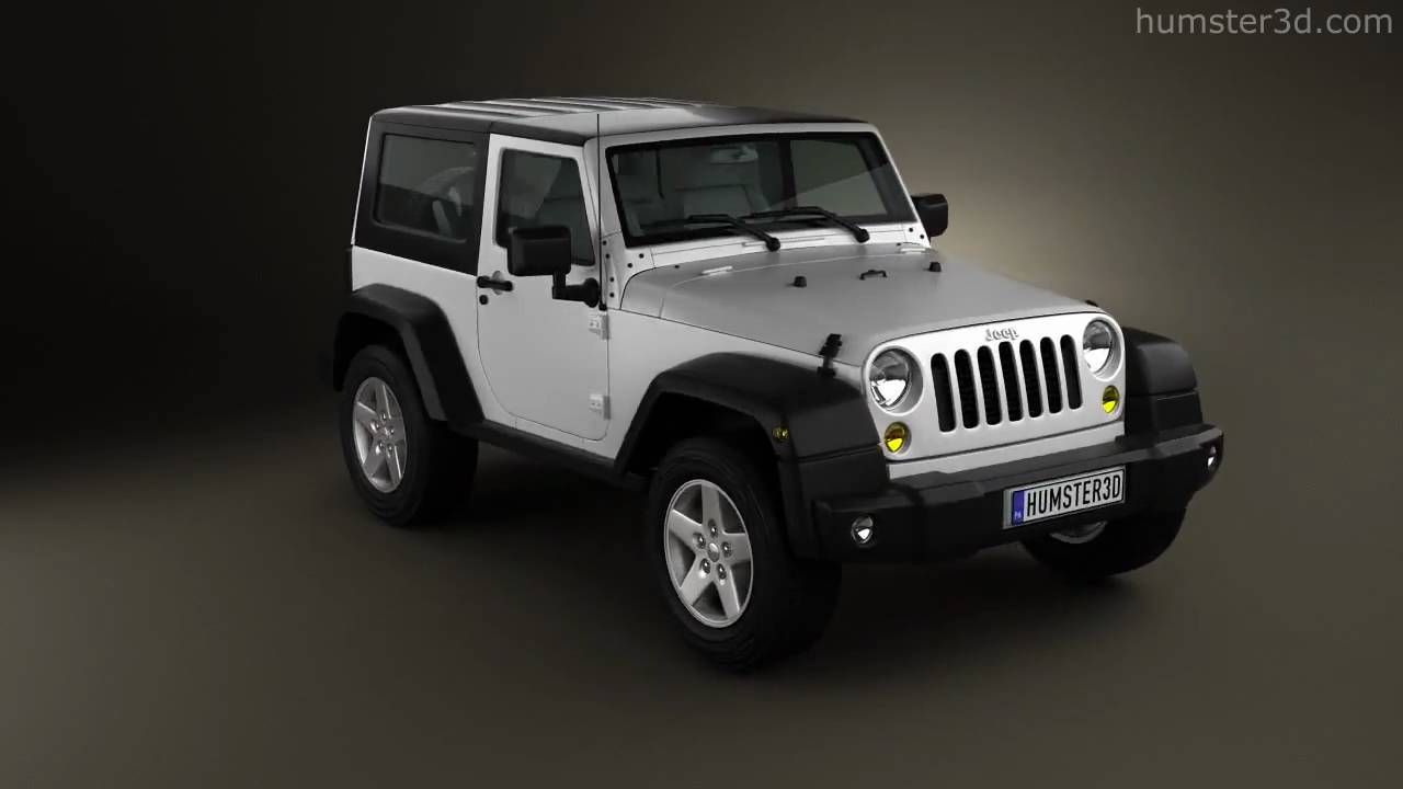 jeep wrangler rubicon hardtop 2010 by 3d model store youtube. Black Bedroom Furniture Sets. Home Design Ideas